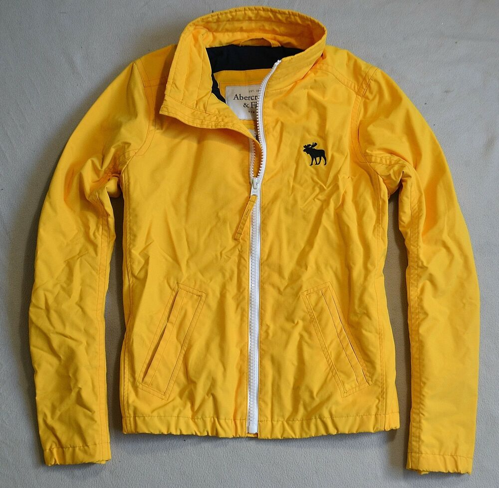BNWT MEN'S ABERCROMBIE & FITCH YELLOW OUTERWEAR HOODIE