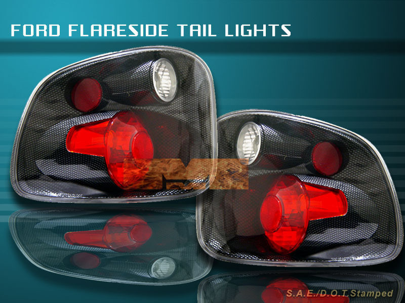 2001 2003 ford f150 f 150 flareside carbon fiber tail lights 2001 2002. Black Bedroom Furniture Sets. Home Design Ideas