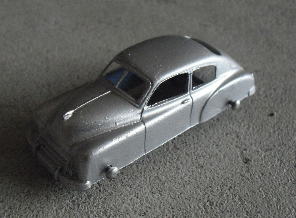 vintage 1950s usa made silver car with rubber wheels look