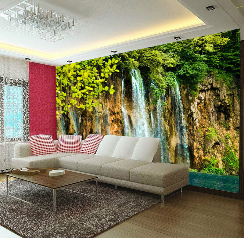 3D River Theme Waterfalls Full Wall Mural Photo Wallpaper