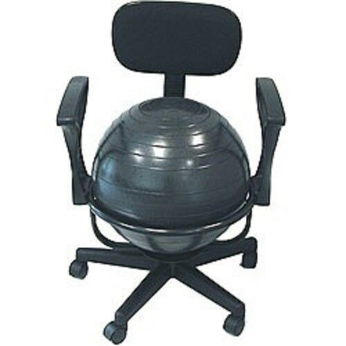 Balance Ball Chair Fitness Exercise Office Back Workout Yoga Gym Posture Heal