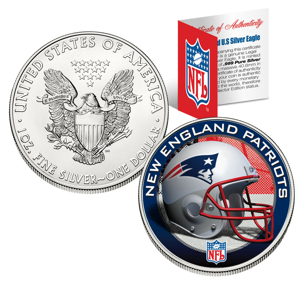 New England Patriots 1 Oz American Silver Eagle 1 Coin