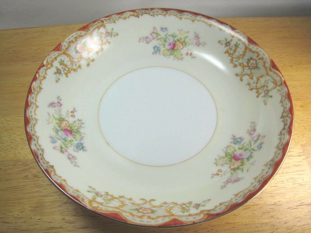 Vintage Hand Painted Soup Bowl By Garden China Made In