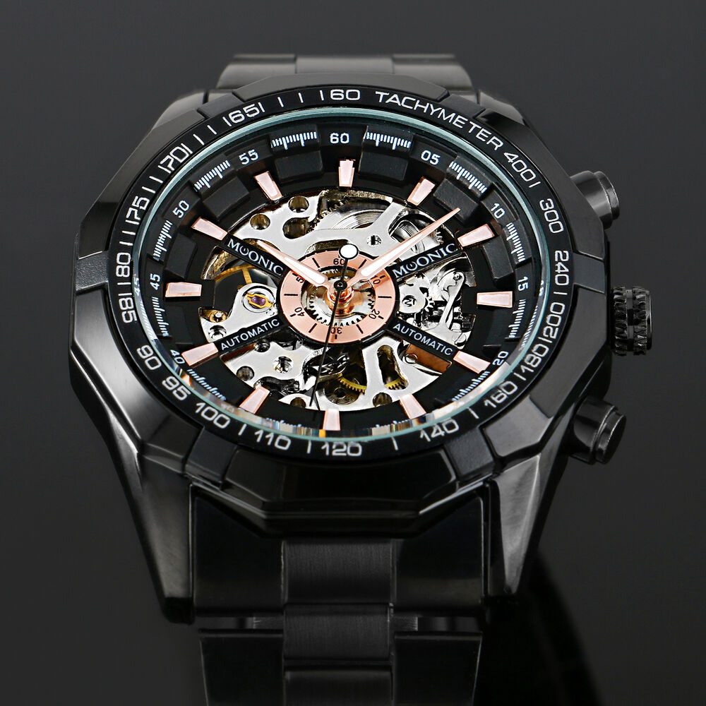 new s skeleton stainless steel automatic mechanical