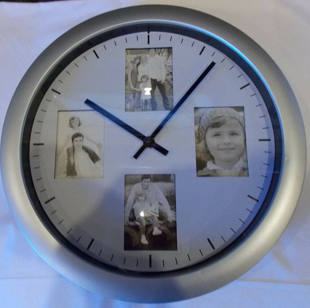 Photo wall clock battery operated ebay - Mondaine wall clock cm ...