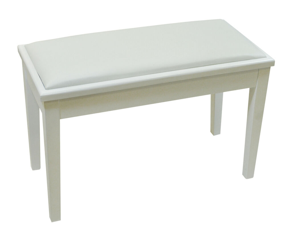 Njs Piano Electric Keyboard White Bench Stool With Storage