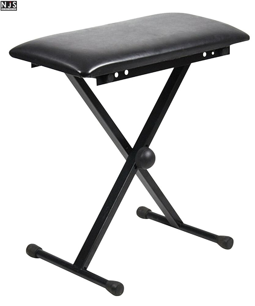 Njs Adjustable Piano Or Keyboard Stool Bench With X Type
