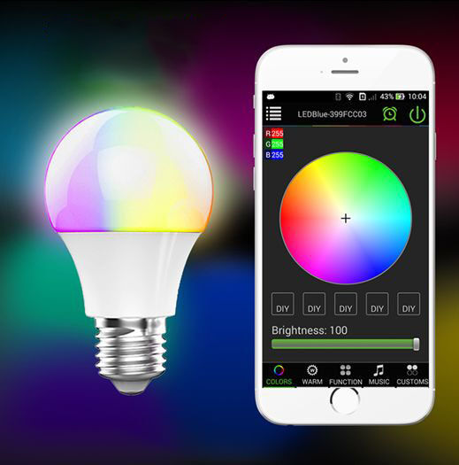 E27 Bluetooth Smart Ios Android App Control Lamp Wireless