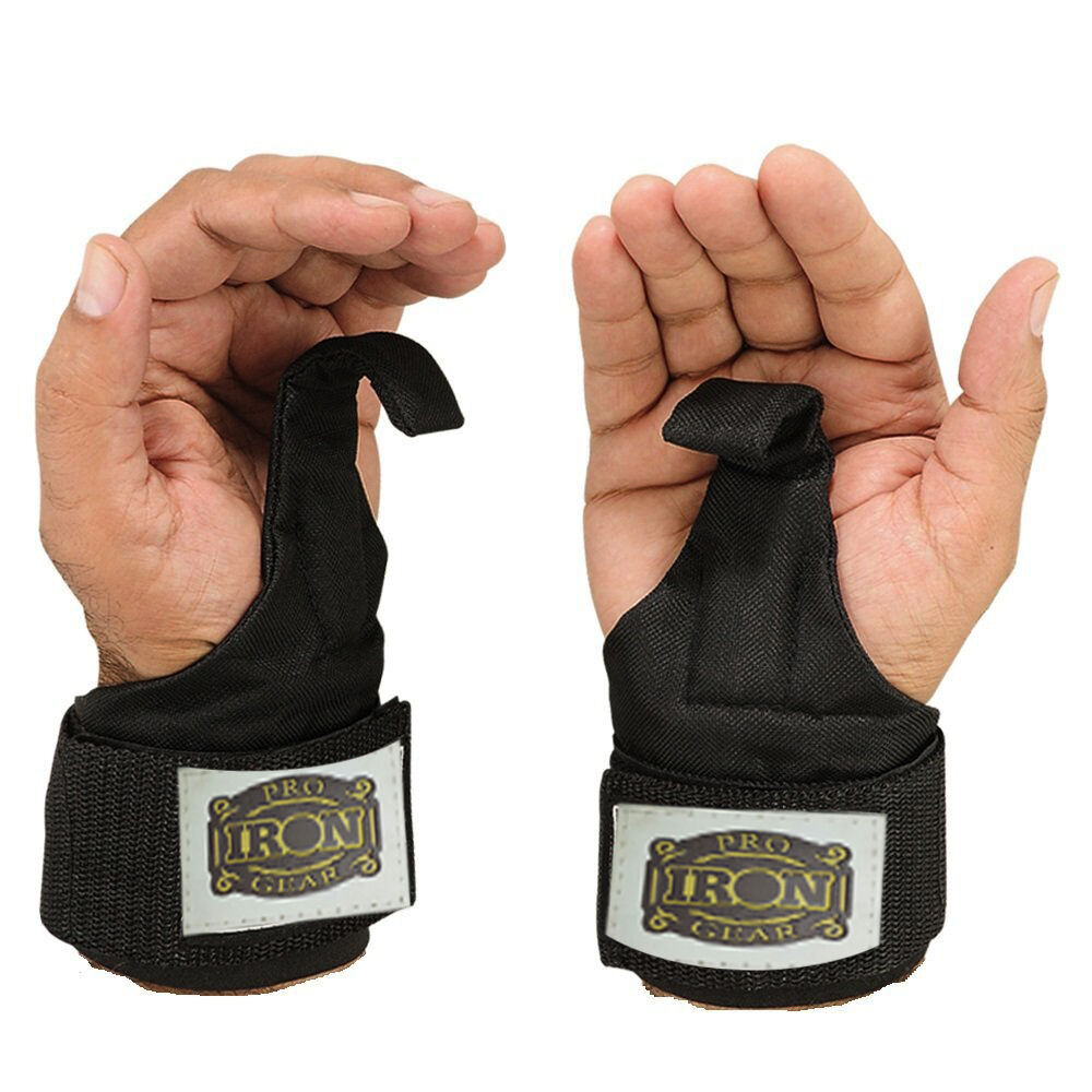 1 Pair Weight Lifting Hand Bar Grips Straps Wrist Support: Power Weight Lifting Training Wrist Support Gym Straps