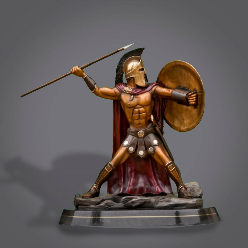"Warriors Rise To Glory Türkçe Indir: BRONZE SPARTAN KING LEONIDAS ""300"" Movie SCULPTURE By"
