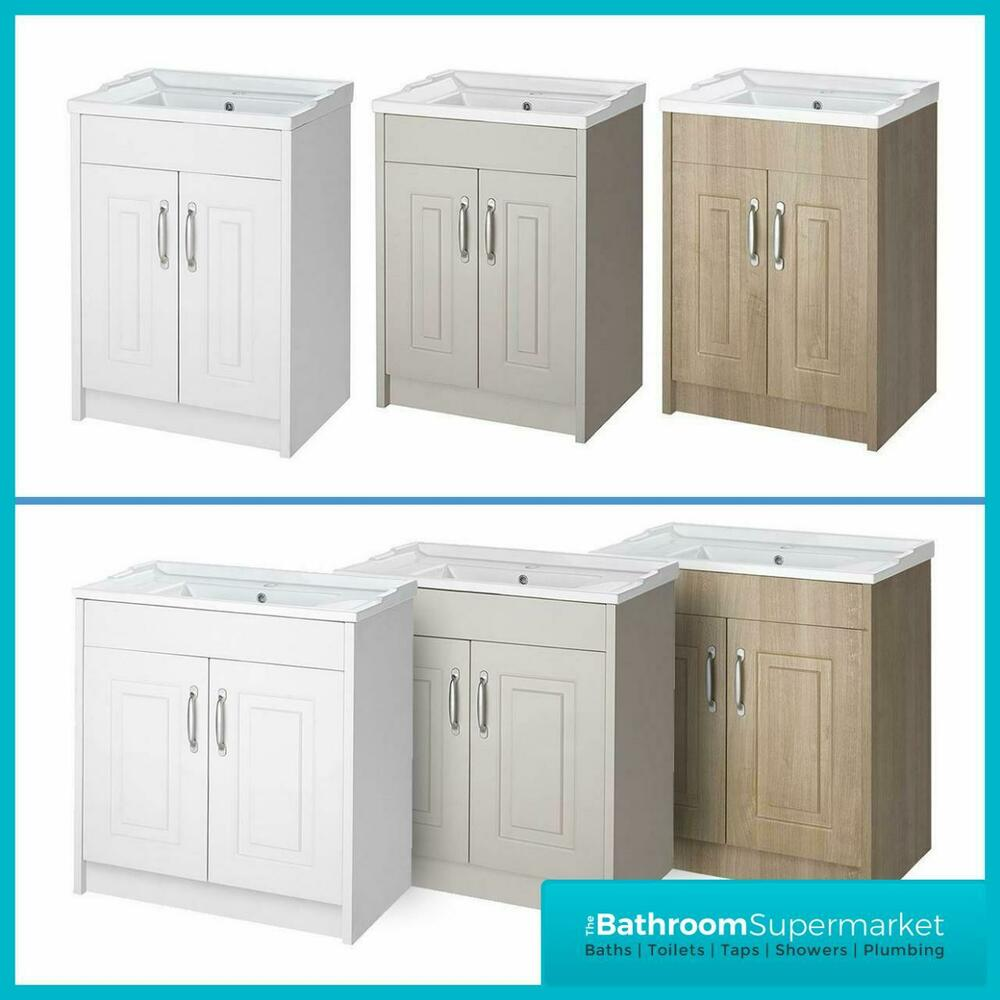 bathroom cabinet basin vanity unit cabinet with ceramic basin ebay