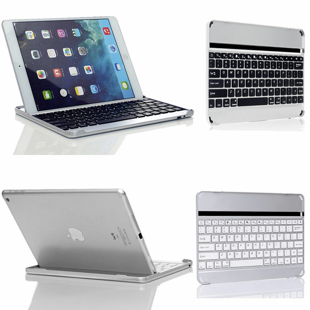 IPad - 2 / 3 / 4, aluminium Bluetooth Keyboard / Stand / Carry Cover