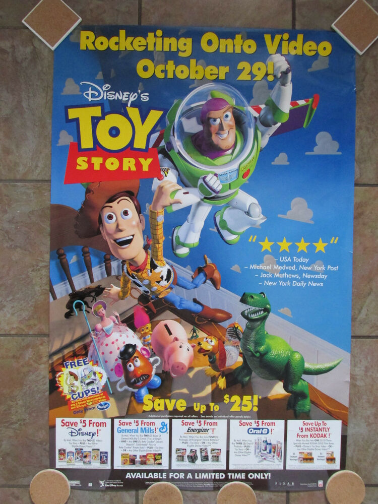 toy story on video movie poster 1996 singlesided one