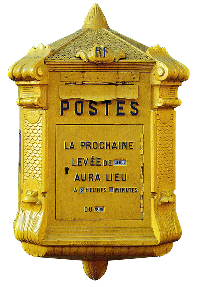 autocollant sticker mural boite aux lettres la poste vintage 55cmx36cm ba178 ebay. Black Bedroom Furniture Sets. Home Design Ideas