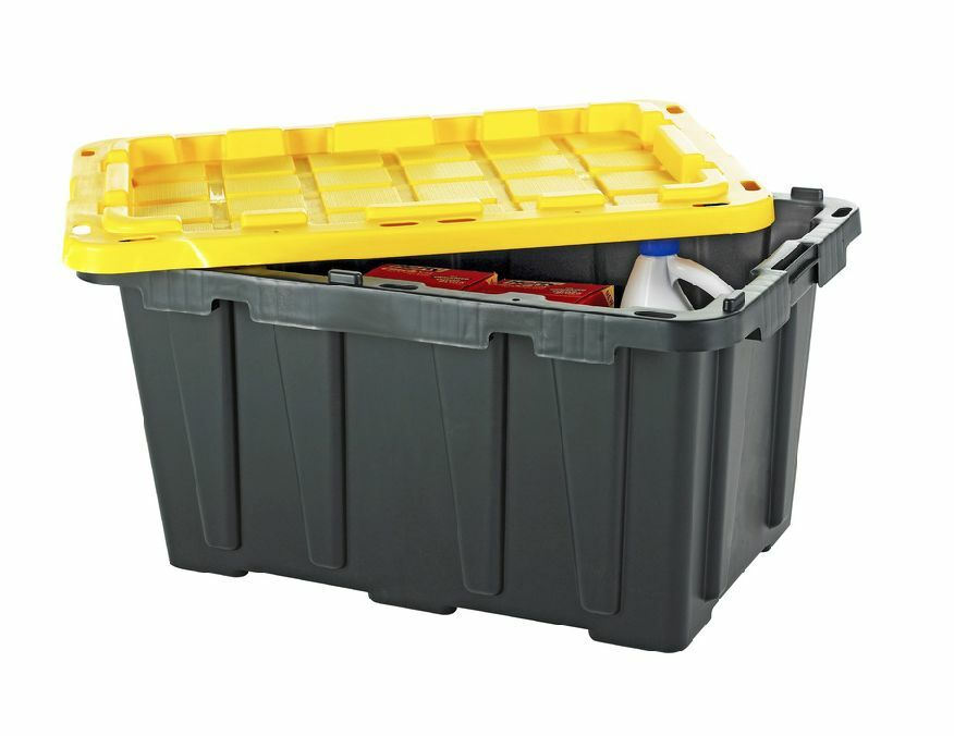 Superior Large Heavy Duty 27 Gallon Storage Bin Box Tote Container U0026 Snap Lid ( Stackable) | EBay