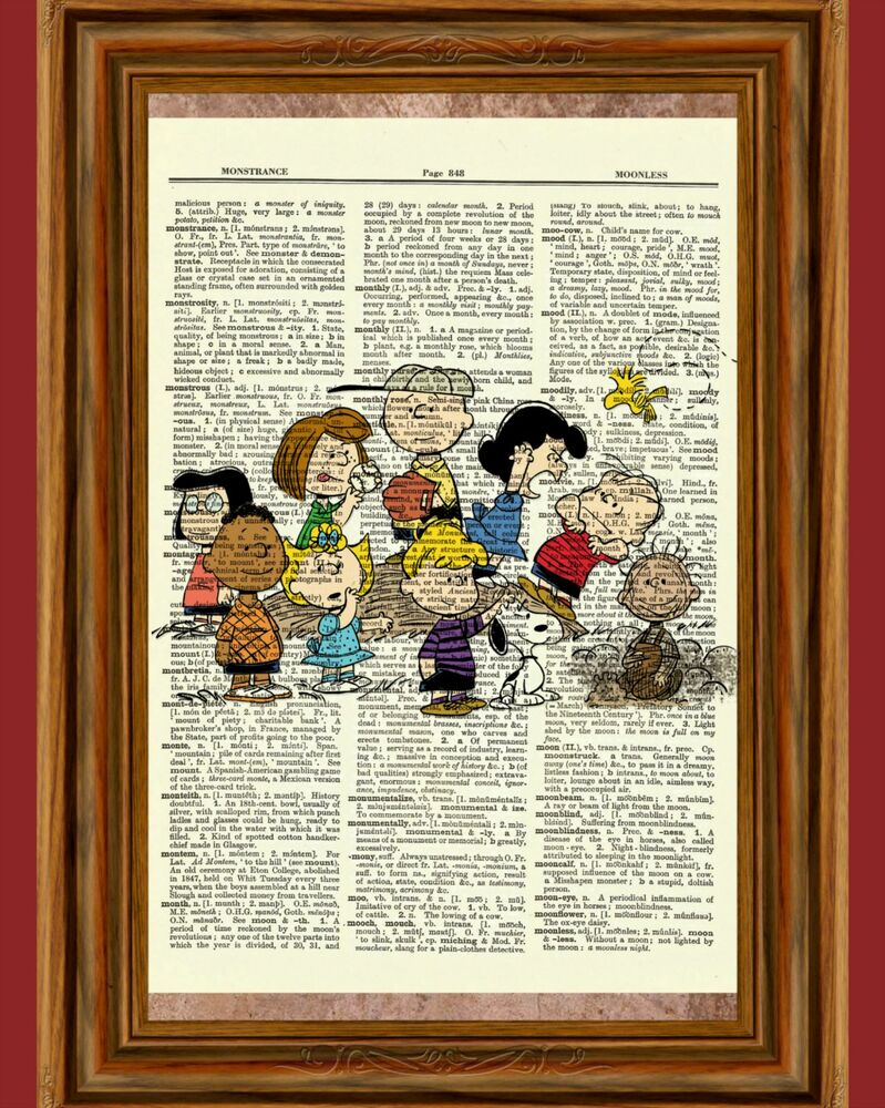 bd40d745e9bf Details about charlie brown peanuts dictionary art print picture poster  snoopy lucy sally jpg 799x1000 Snoopy