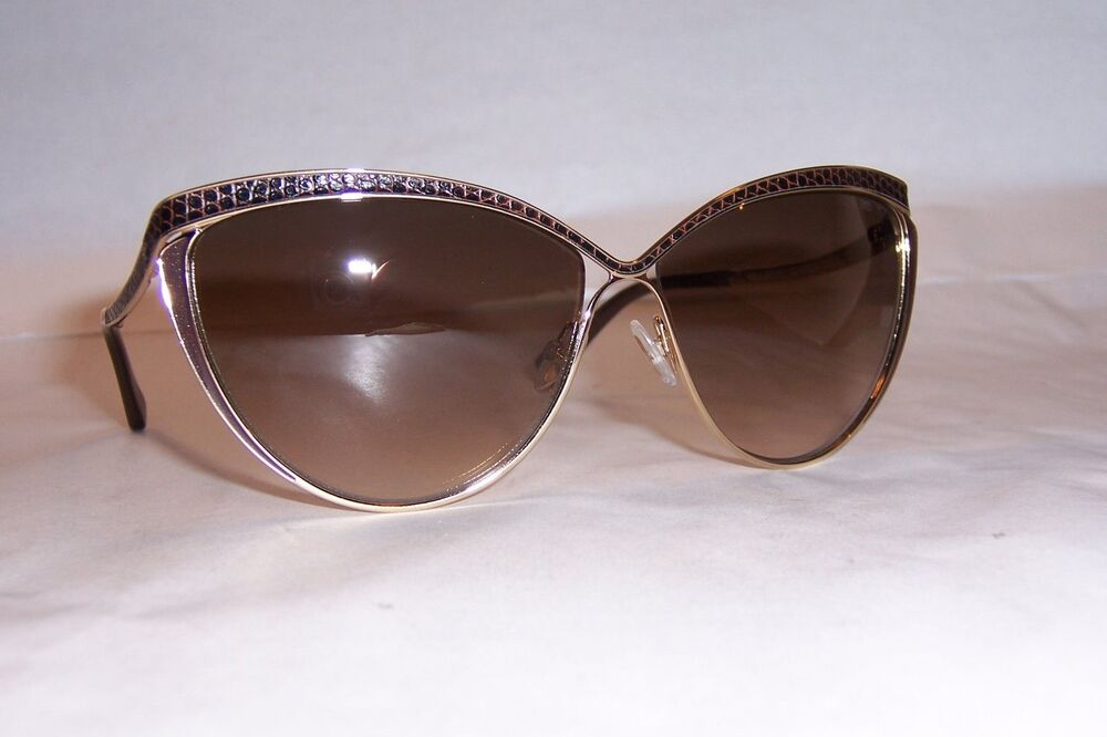 353fc932bcc7 Details about NEW JIMMY CHOO SUNGLASSES POLLY S 000-JD ROSE GOLD BROWN  AUTHENTIC