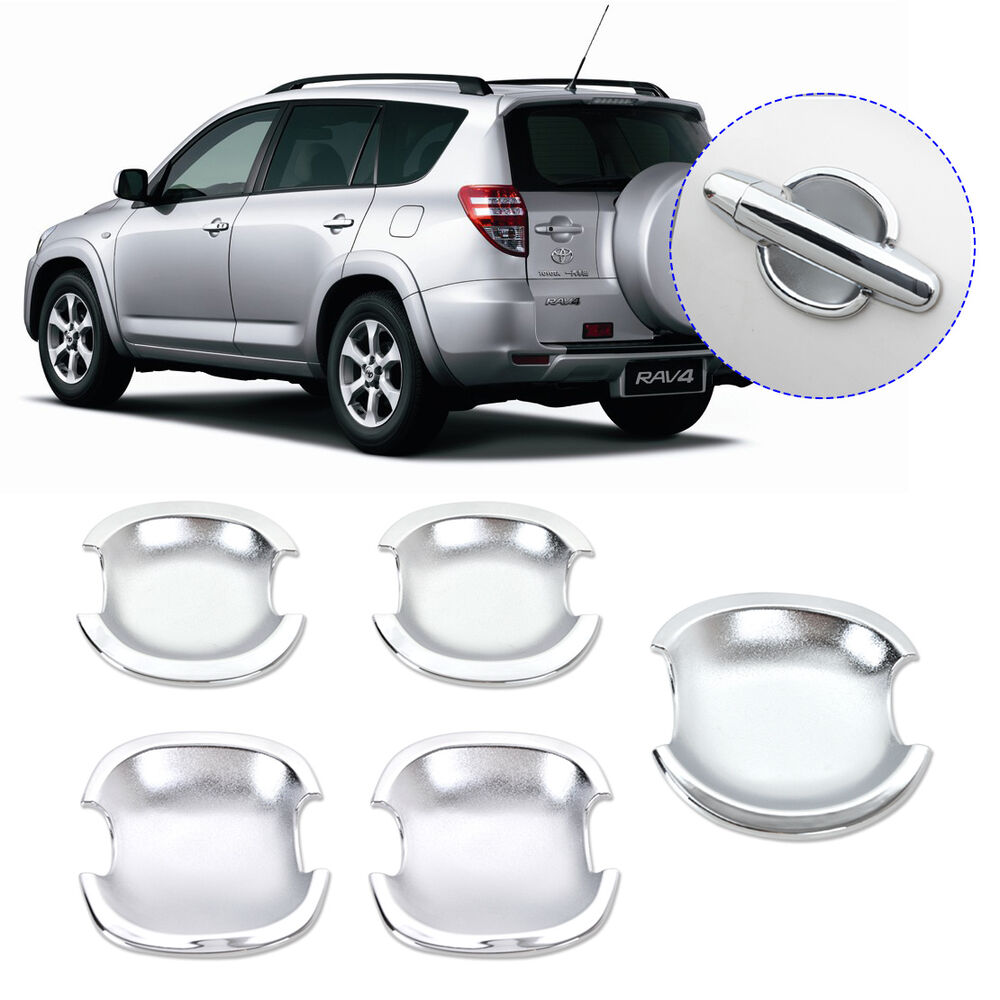 5x Chrome Door Handle Cup Bowl Set For Toyota 5 Door Rav4 2006 2007 2008 2009 Ebay