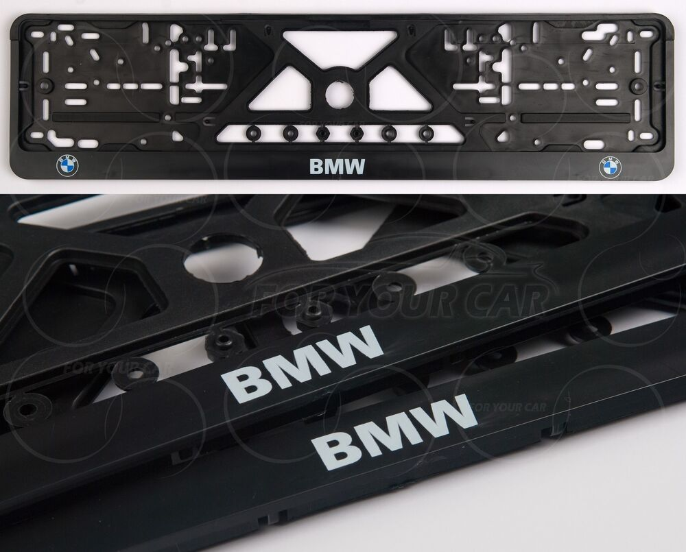 2pcs Bmw Logo All Model Frame Euro For License Plate