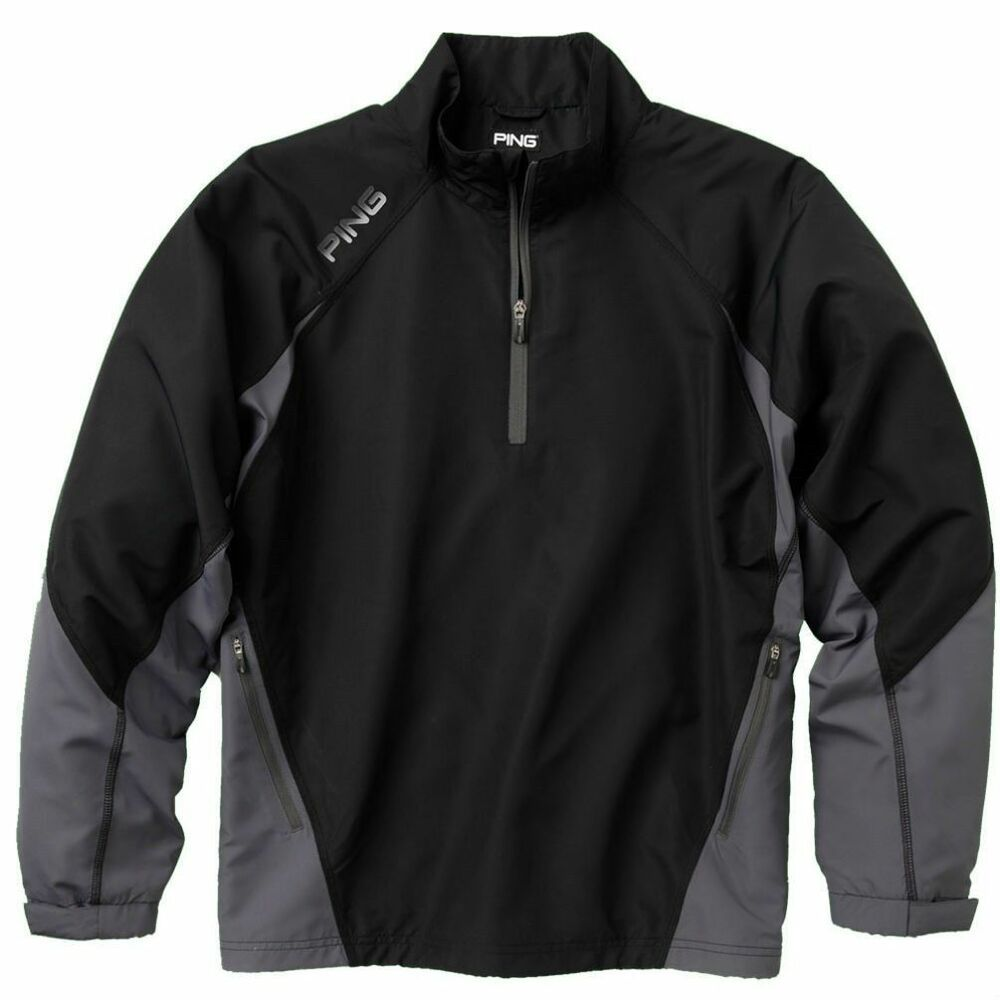 New Black Ping 1/4 Zip Recovery Golf Jacket Coat Large XL ...