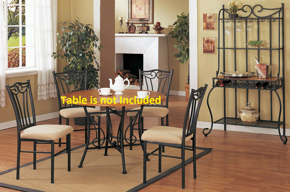 kitchen dining room contemporary dining chairs set upholstered metal