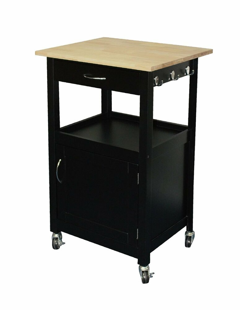 eHemco Kitchen Island Natural Wood Top with Black Base eBay