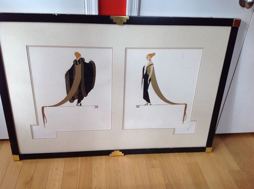 Erte ready for the ball limited edition serigraph ebay