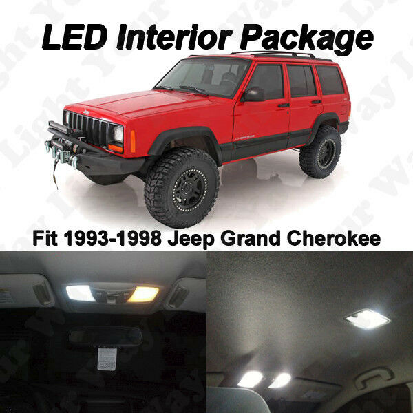 7 x xenon white smd led interior lights kit for 1993 1998 jeep grand cherokee zj ebay 1993 jeep grand cherokee interior