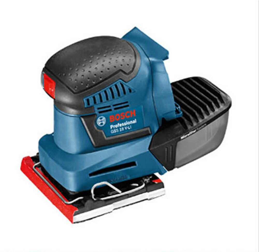 bosch gss 18v li professional electric orbital sander bare tool body only ebay. Black Bedroom Furniture Sets. Home Design Ideas