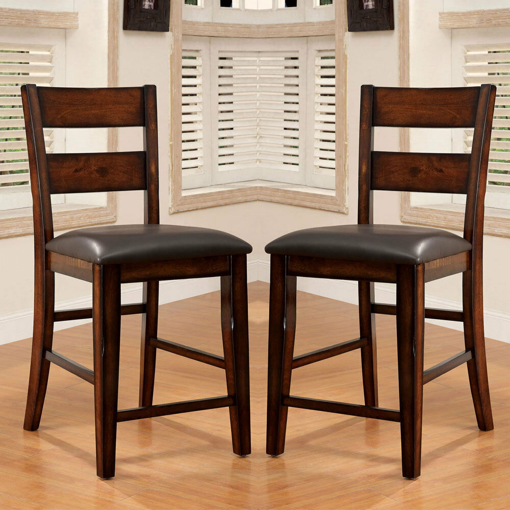 2 Pc Dickinson Counter Height Dining Side Chairs Dark