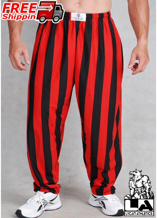 Stamina and quality garments go hand in hand when a man is training to achieve his ultimate fitness goals. Push your exercise routine to the max in breathable workout pants from Pitbull Gym Clothing. Every design, color, and size is available from Camo Baggies, Karate Pants, Jersey Gym Pants with Zipper Pockets, and Striped Workout Pants.
