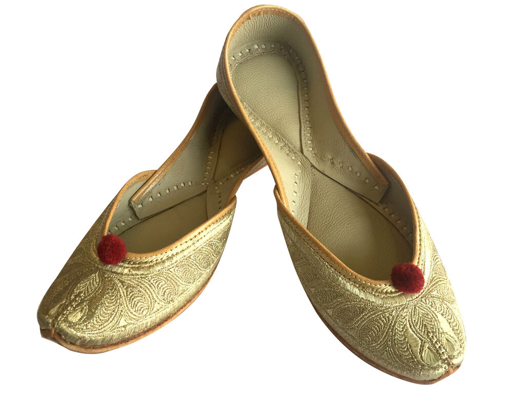 Perfect Details About Womens RUST RustIndian Leather Khussa Shoes Pumps Size