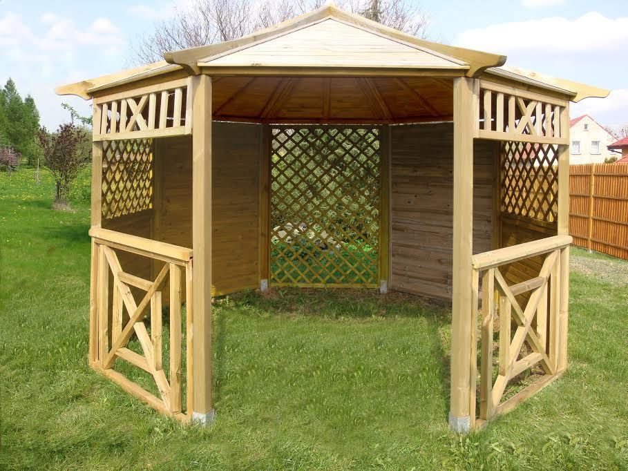 Garden Wooden Gazebo Hot Tub Octagonal Diameter 3 5m Ex4