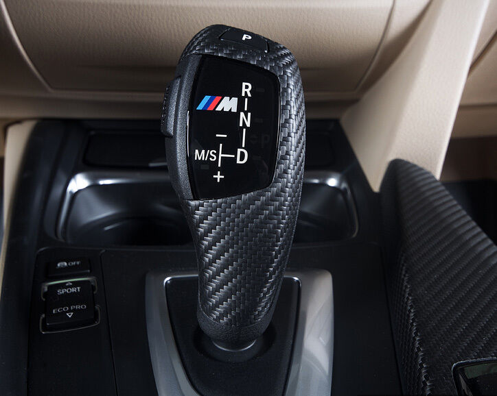 Bmw M Performance Carbon Fiber Auto Shifter Handle Trim 1