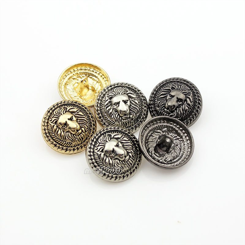 12pcs lion vintage new metal round shank buttons coat for Buttons with shanks for jewelry