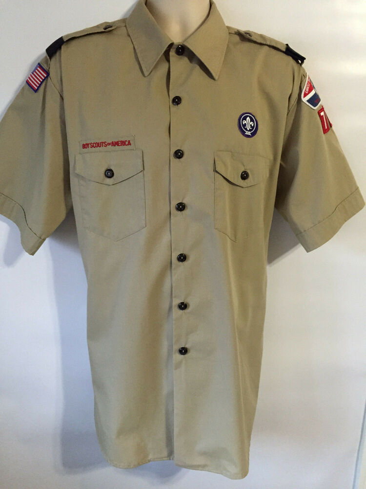 Bsa Official Uniform Shirt Men 39 S Xl Short Sleeve Circle