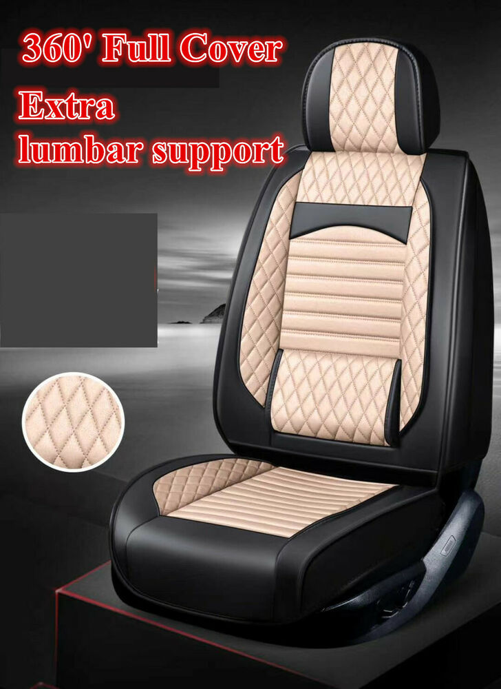 black leather car seat covers hyundai i30 ix35 tucson elantra sonata accent ebay. Black Bedroom Furniture Sets. Home Design Ideas