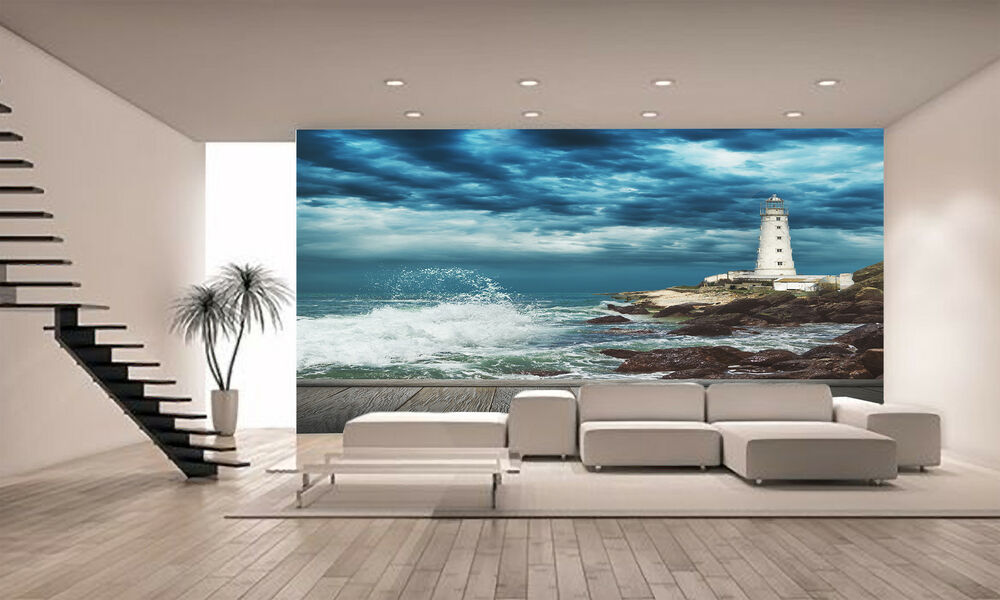 big ocean wave wall mural photo wallpaper giant decor paper poster free paste ebay. Black Bedroom Furniture Sets. Home Design Ideas