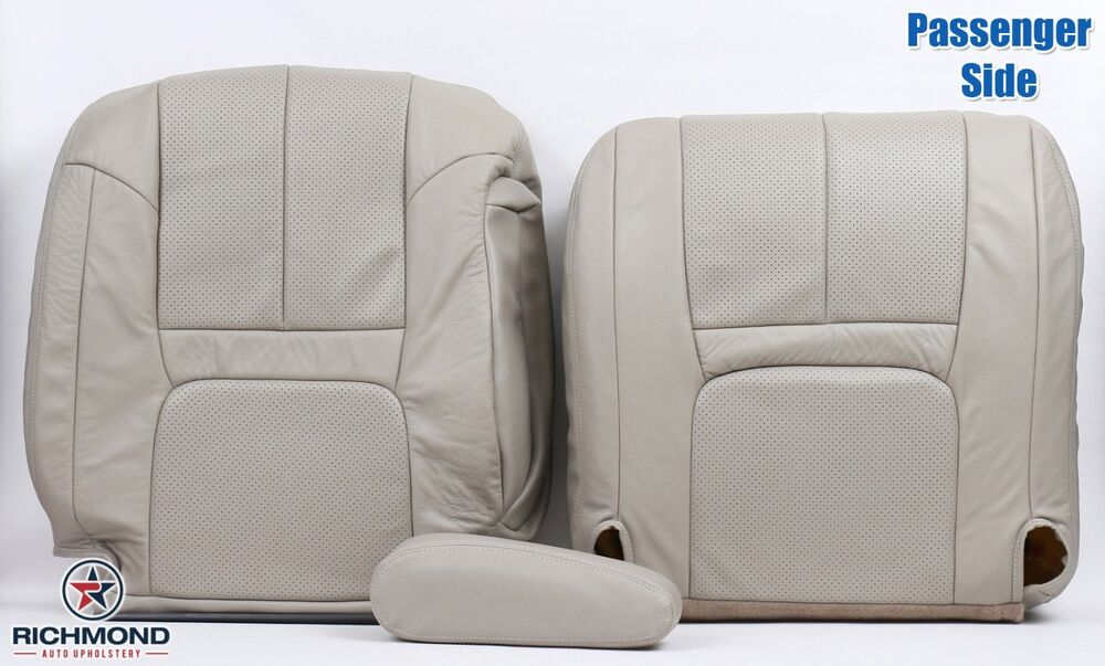 99 00 cadillac escalade passenger complete replacement leather seat covers tan ebay. Black Bedroom Furniture Sets. Home Design Ideas