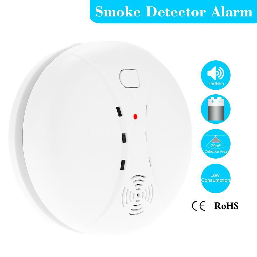 smart house wireless photoelectric home security system smoke detector ec4d ebay. Black Bedroom Furniture Sets. Home Design Ideas