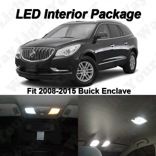 buick enclave 2008 white. 12 x xenon white smd led interior lights kit package for 20082016 buick enclave ebay 2008