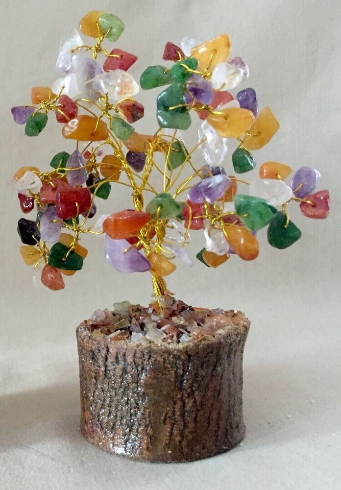 Gem Tree Multi Color Gemstone Tree Wire Wrapped Tree Feng