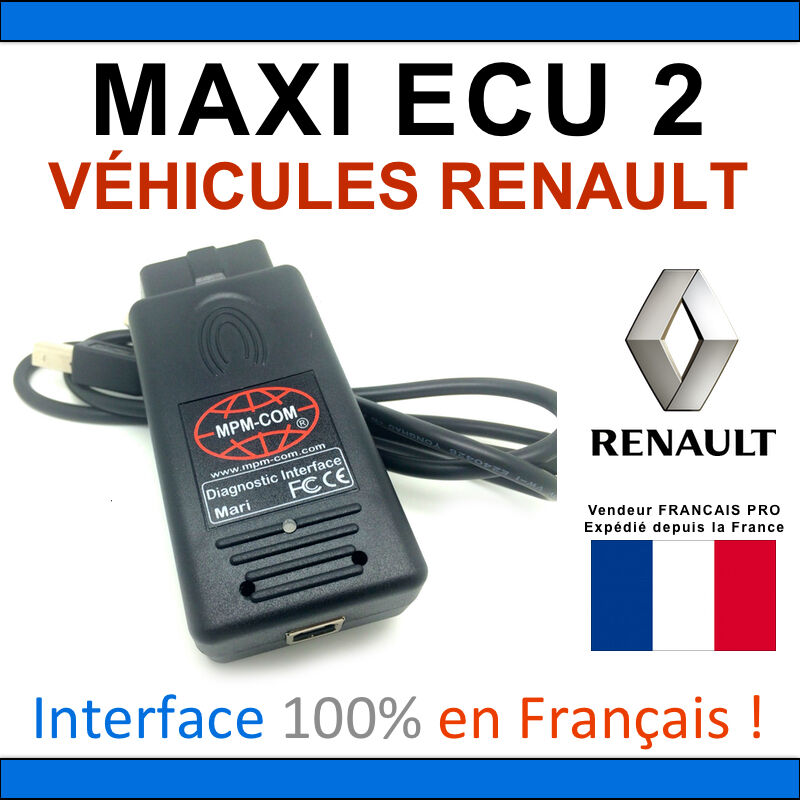 maxiecu 2 mpm com valise diagnostic renault clip valise diag can ebay. Black Bedroom Furniture Sets. Home Design Ideas
