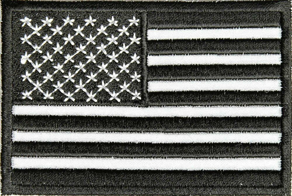 flag patch american usa reflective patches embroidered wildworld biker motorcycle flags monochrome thecheapplace