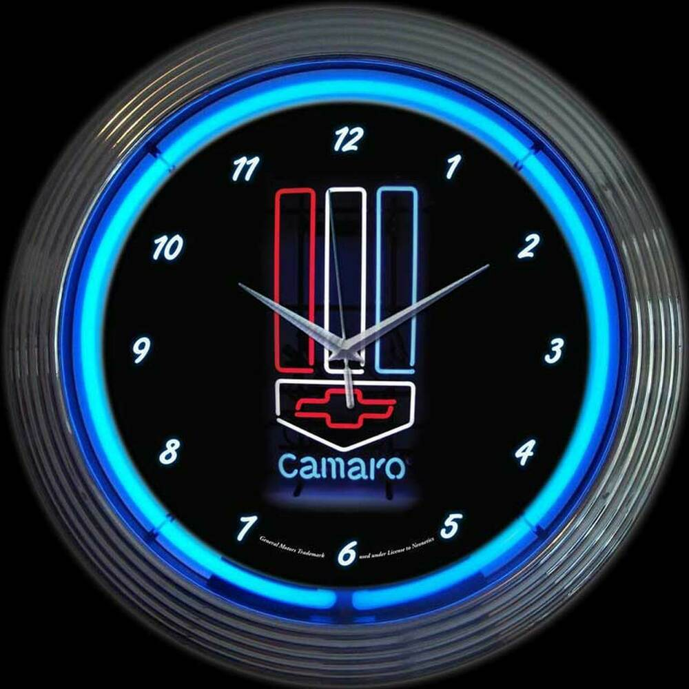 gm chevrolet neon clock