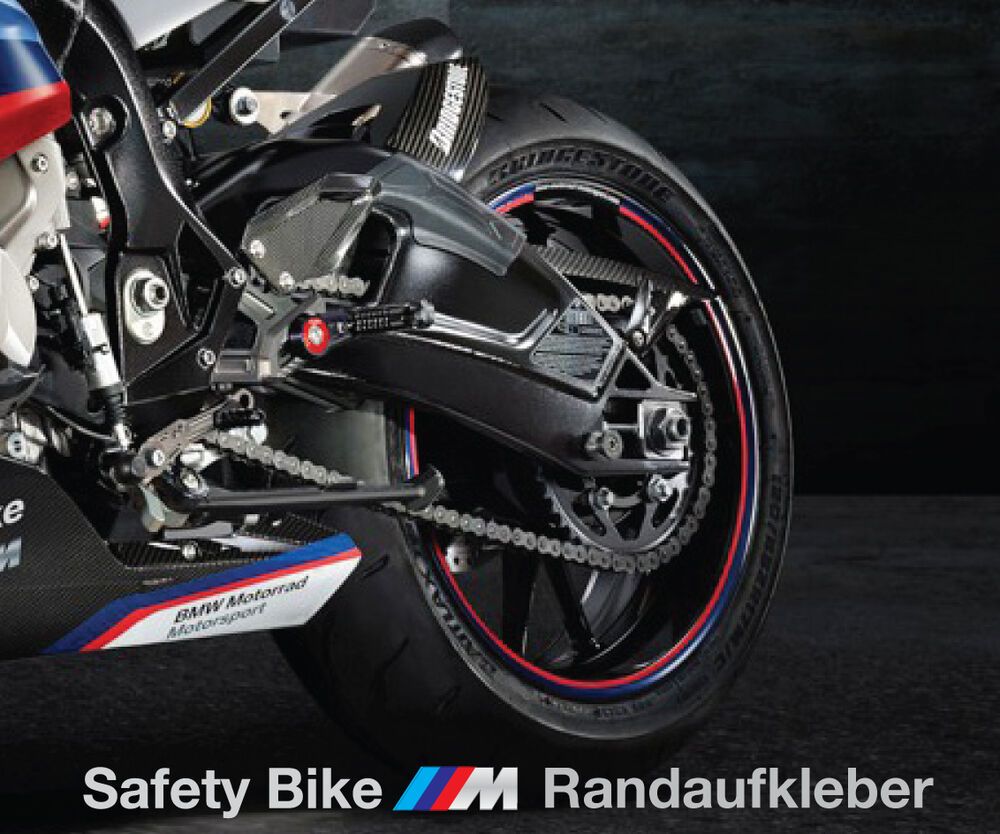 bmw s1000rr sicherheit motorrad felgen rand aufkleber. Black Bedroom Furniture Sets. Home Design Ideas