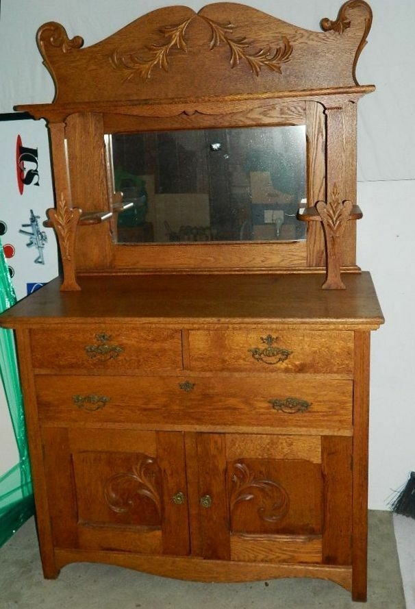 antique sideboards with mirrors antique larkin oak sideboard buffet w mirrored back 4131