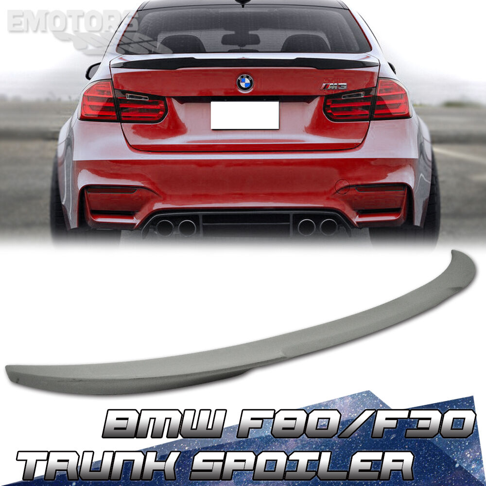 bmw 320i 330d f30 f80 m3 3 series saloon v type trunk boot spoiler unpaint ebay. Black Bedroom Furniture Sets. Home Design Ideas