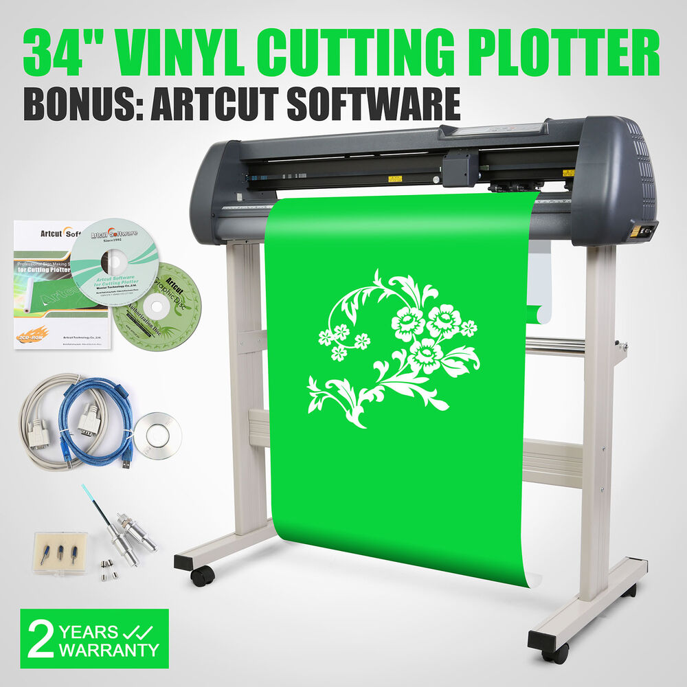 34 Quot Vinyl Cutting Plotter Sticker Machine With Stand Cut