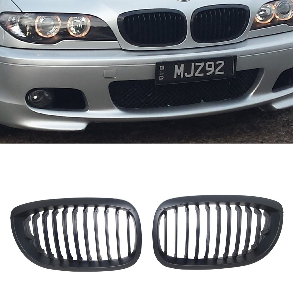 Bmw Grills: Black Kidney Grill Grilles For BMW 3 E46 LCI Coupe
